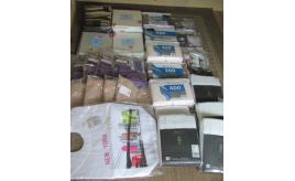 Quantity of cotton bath robes, sheets, Duvet covers, curtains etc