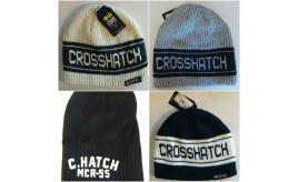 One Off Joblot of 9 Crosshatch Mens Winter Beanie Hats Mixed Styles
