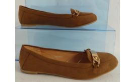 Wholesale Joblot of 10 Avon Womens Loafer Ballet Shoe Brown Size 6