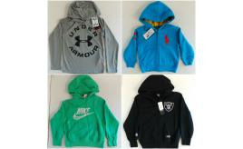 One Off Joblot of 11 Boys Branded Hoodies - Under Armour, Ralph Lauren & More