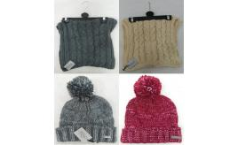 One Off Joblot of 11 Firetrap Womens Winter Accessories Bobble Hats & Snoods