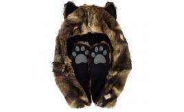 Wholesale 21PCS Wolf Animal Hoodie Faux Fur Hat Scarf Gloves With Ears- Clearance Sale - Must go! -002