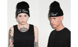 Wholesale Joblot 50x UNISEX SICK GIRL LOGO BEANIE HATS (BLACK) - BY THE ORIGINAL CREATOR OF BOY LONDON ONE SIZE