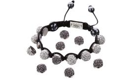 Joblot of 10 Shimla Bracelet Sets Interchangeable Black 'Fireball' Studs SH111