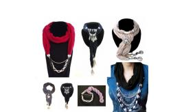 Mixed Joblot 29 PCS Pendant Scarves - 44