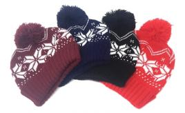 160 x Festive Beanie Hat Snowflake Print for Christmas / Winter