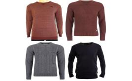 Wholesale Joblot of 9 Crosshatch Mens Jumpers Mixed Styles Range of Sizes