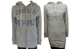 One Off Joblot of 8 Chilli Pepper Womens Hoodies 2 Styles Sizes 8-14