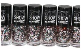 100 x Maybelline Color Show All Access Nail Polish Topcoat 7ml | Broadway Lights
