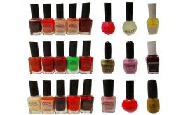 Wholesale Joblot of 500 Assorted Nail Polishes Good Variety of Shades