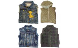One Off Joblot of 5 Scotch Shrunk Boys Gilets 5 Styles 6-9 Years
