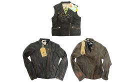 One Off Joblot of 3 Scotch R'Belle Girls Leather Jackets 3 Styles 6-9 Years