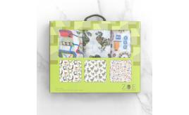 50 x Mechanised Dodo Muslin Square Three Packs