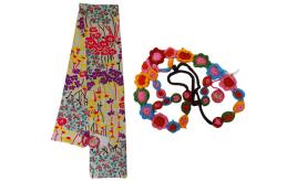 One Off Joblot of 4 Nolita Pocket Womens/Teenagers Floral Scarfs & Belts
