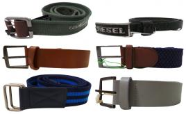 Wholesale Joblot of 10 Assorted Branded Belts - Diesel, Farah, Gio-Goi & More