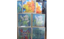 Large quantity of Art. 90 paintings Some signed. Oil on canvas