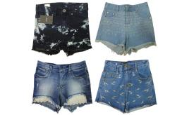 One Off Joblot of 11 Womens Mixed Denim Shorts - Dr Denim, Mixed Message & More