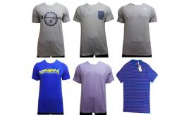 Wholesale Joblot of 20 Mens Assorted Branded T-Shirts Mixed Styles & Sizes