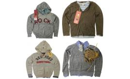 One Off Joblot of 8 Scotch Shrunk Boys Layered Jumper & Top Sets 6-9 Years