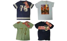 Wholesale Joblot of 10 Scotch Shrunk Boys Short Sleeve T-Shirts Assorted Styles