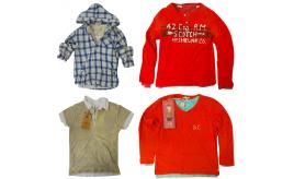 One Off Joblot of 7 Scotch Shrunk Boys Mixed Layered Shirts & Tops Mixed Sizes