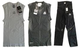 One Off Joblot of 8 Adidas Sportswear Prepare Vest Tops & Trousers Sizes S-L