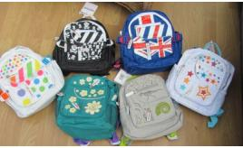 100 x Kiddimoto Children`s High quality back packs. 5 Different designs