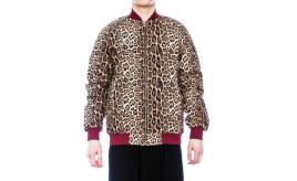 THE BOMB LONDON Unisex Leopard Print Premium Bomber Jackets