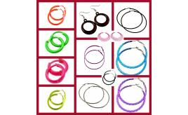 Wholesale Joblot of 1000 Ladies Mixed Hooped Earrings Various Colours & Sizes