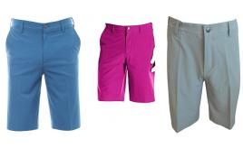 "One Off Joblot of 11 Adidas Mens Golf Shorts in Pink, Blue & Grey 32"" - 38"""