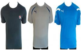 One Off Joblot of 8 Puma and Fila Mens T-Shirts 3 Styles Sizes M-XL