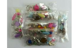 100 Bracelets With Two Or One Ring Chains Featuring Beads Inc Stars Wholesale
