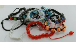 Wholesale Lot Of 50 Shamballa And Clear Bead Bracelets Girls And Womens