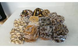 Wholesale Lot Of 100 Beach Holiday Wood Shell & Resin Bracelets & Necklaces