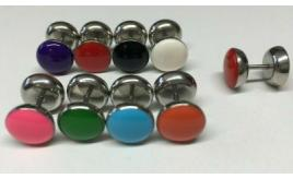 Wholesale Lot Of 200 Double Sided Barbell Earrings Mixed Colours Mens Womens