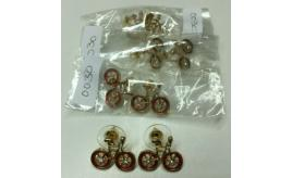 Wholesale Lot Of 100 Pairs Of Gold Bike Earrings Studs, 3 Colours Womens Cycling