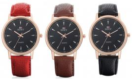 Wholesale Joblot of 10 Soxy Freddie Faux-Leather Watches Unisex 3 Colours