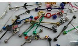 Wholesale Joblot of 100 Assorted Body Piercings Including Ears, Nose, Belly Etc