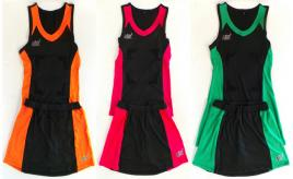Joblot of 300 Assorted Womens NBK Netball Kits Mixed Colours & Sizes