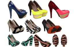 Joblot of 1088 Kat Von D Womens High Heels 4 Styles Mixed Colours & Sizes