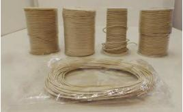 Joblot of Approx 360m of White Round High Quality Leather Cords 2mm Wide