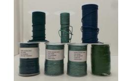 Joblot of Approx 530m of Blue/Green Mixed Round Leather Cords 2mm Wide