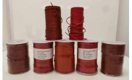 Joblot of Approx 580m of Red/Light Brown Round Real Leather Cords 2mm Wide