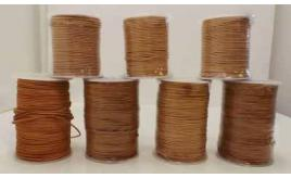 Joblot of Approx 550m of Natural Round High Quality Leather Cords 2mm Wide