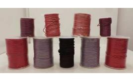 Joblot of Approx 560m of Purple/Pink Round High Quality Leather Cords 2mm Wide