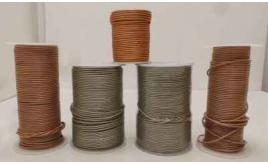 Joblot of Approx 325m of Metallic Round Real Leather Cords 2mm Wide