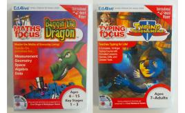 One Off Joblot of 122 EdAlive Maths & Typing Educational Activities 2 Styles