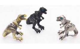 Wholesale Joblot of 10 Unisex Dinosaur Front-To-Back Earrings 3 Colours