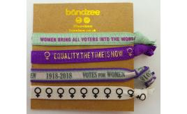 Wholesale Joblot of 50 Bandzee Suffragettes Edition Hair Ties (4 In Each Pack)