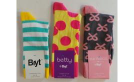 Wholesale Joblot of 50 Bryt Combed Cotton Socks 3 Styles Women & Men